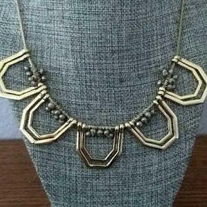 Unique Geometric Necklace